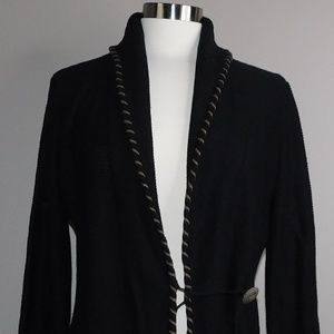 NWT Lauren by Ralph Lauren Black  Cardigan